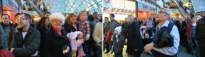 Świąteczny flash mob w Złotych Tarasach