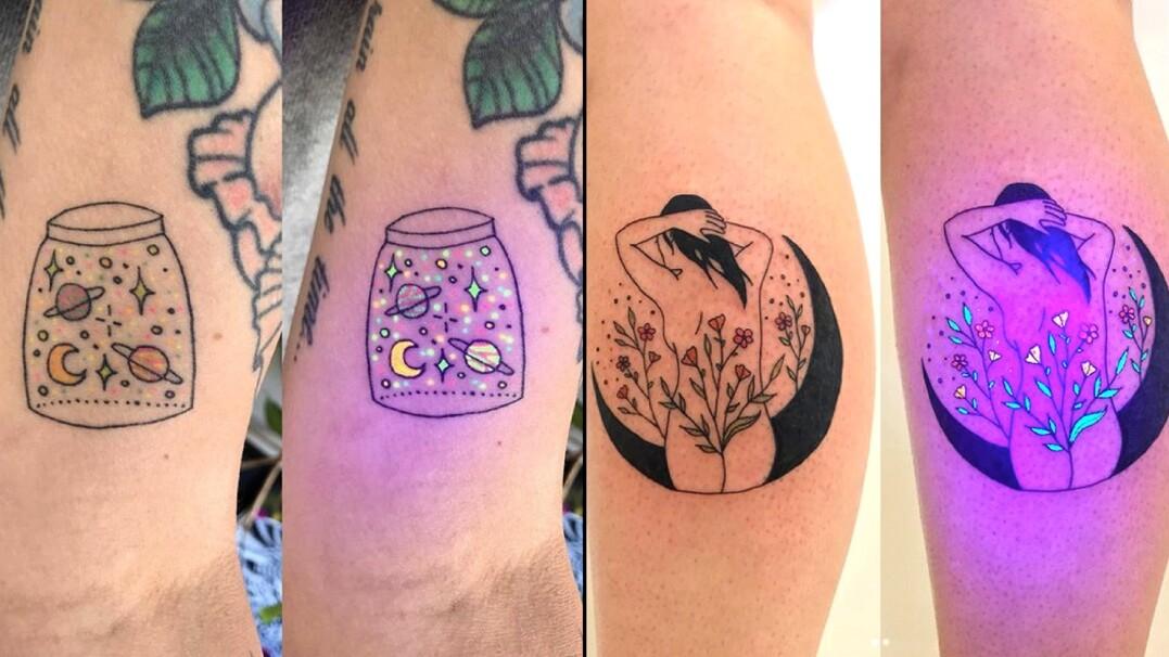 świecące Tatuaże Wystarczy światło Uv Najlepsze Wideo W