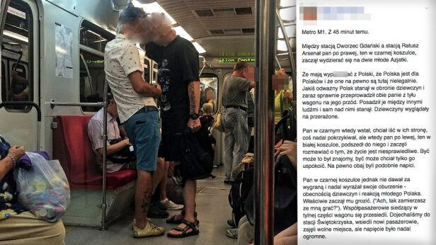 Agresywny mężczyzna w metrze Maria / Facebook