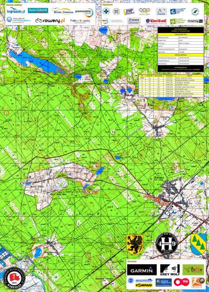 Mapa trasy TP 25 na 49. edycji Harpagana