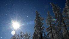 Zima w okolicy miejscowości Tyrawa Wołoska w Górach Słonnych