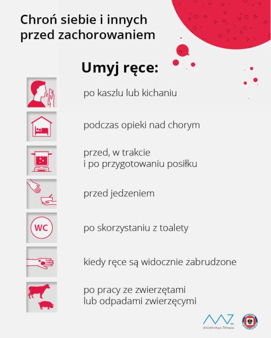 Jak się chronić przed koronawirusem (Ministerstwo Zdrowia)